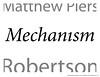 Mechanism series, 2013