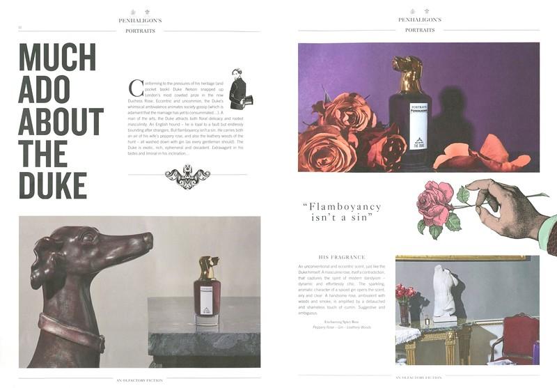 PENHALIGON'S Portraits (Duke) 2016 UK spread (grand format) 'Much ado about the Duke'