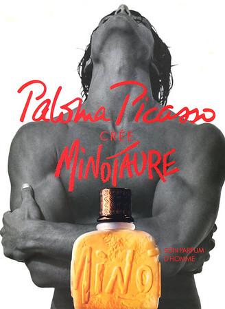 PICASSO Minotaure 1994 France 'Paloma Picasso crée Minotaure - Son parfum d'homme'