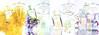 Les Infusions de PRADA Diverse (Mimosa + Iris + Fleur d'Oranger) 2016 Spain 4-page foldout format Hola 24 x 33 cm with 2 stickers (Iris & Fleur d'Oranger)