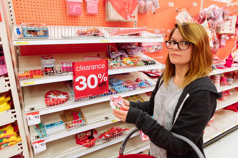 February 15<br /> <br /> We bought Valentine's<br /> Candy on sale with gift cards.<br /> Cavities to come!