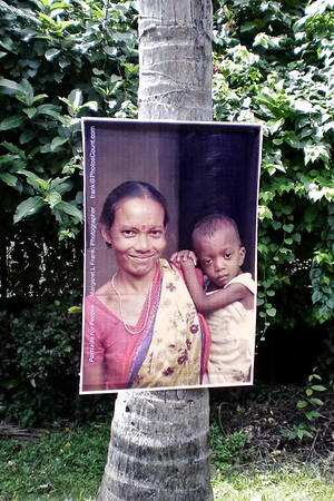 'Portraits for People' exhibition at Alcha Cafe, Santiniketan, West Bengal, India. July/August 2010