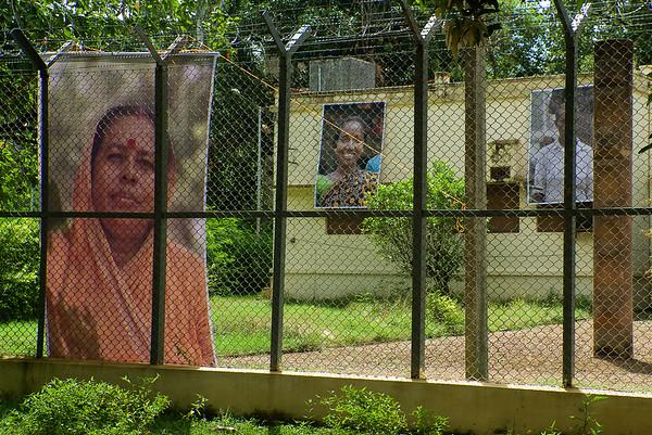 'Portraits for People' exhibition at Nandan Museum, Visva-Bharati, Santiniketan, West Bengal, India. September 2010