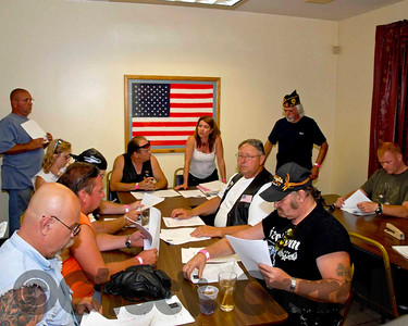 The First Orginazational meeting of the Post 245 Ametican Legion Riders.