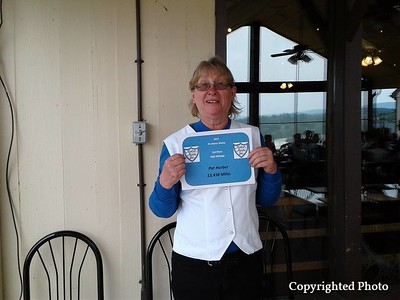 3rd Place High Mileage - Pat Herber 13,438 miles! Way to go Pat.