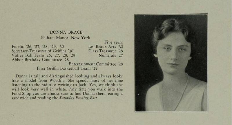 """Ogilvie's senior year photo in the 1930 Circle, in which she earned the superalitives """"best looking"""" and """"best dressed"""""""