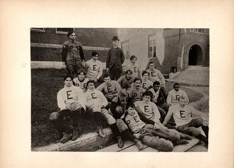 The official photo of Exeter's 1893-1894 football team. These players would deliver a decisive blow to Andover that year, and go on to symbolize the issue of ringers in school sports.