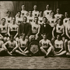 "Worcester Academy's track team, shown here with coach ""Pooch"" Donovan. Donovan found himself, at the age of 27, enrolled as an Exeter student, where he played for its football team against Andover, before then playing for Georgetown a week later. After returning to coach WA track, Donovan eventually joined Harvard as an athletic trainer."