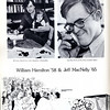 This 1974 photo spotlights William Hamilton '58 and Jeff MacNelly '65, two of the most celebrated cartoonists in America. (Photo from 1974 Andover Bulletin)