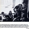 Former Headmaster Ted Sizer, who guided PA through a critical period of change, sits with students in 1976. Sizer was known for his hands-on approach to education and listening to students' concerns. (Photo from 1976 Summer Andover Bulletin)
