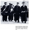 Alfred Ripley, President of the Board of Trustees, and Andover's Principal Dr. Alfred E. Stearns flanked U.S. President Coolidge and his wife in the procession at Andover's Sesquicentennial celebration. (Photo from 1928 Pot Pourri)