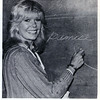 """Actress Loretta Swit in a Sam Phil classroom plays the role of an English teacher for a scene in a CBS movie, """"Freshman Year."""" Swit, one of the stars of M*A*S*H, was on campus for three days in June 1983 with a film crew of about fifty. (Photo from 1983 Andover Bulletin)"""