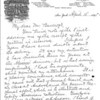 Letter from Greener to Bancroft, 1891, pg. 1 of 2