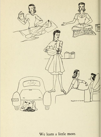 Abbot Academy Student Depicts Women's Roles in 1941