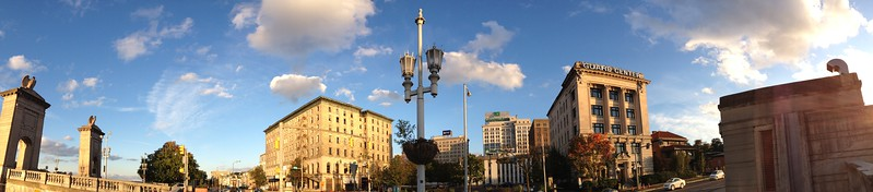 River and Market Streets Panorama