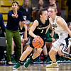 The PAC12 Women's Basketball game between the University of Colorado Buffaloes (CU) and the Darmouth Big Green (DR) at the Coors Event Center on the University of Colorado campus in Boulder, Colorado.  Final score of the game was the Darmouth Big Green - 81 and the CU Buffaloes - 75.