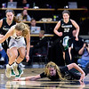 The PAC12 Women's Basketball game between the University of Colorado Buffaloes (CU) and the Darmouth Big Green (DR) at the Coors Event Center on the University of Colorado campus in Boulder, Colorado.  Final score of the game was the CU Buffaloes -  and the Darmouth Big Green -