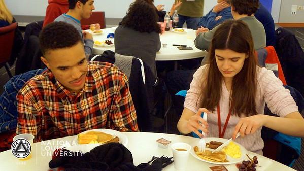 Pancake Breakfast in NLU   Feb 14th, 2015