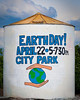 April 22, 2010  ~  Earth Day<br /> Today was Earth Day and there were celebrations all over town.  I drove by the water tank on hwy 65 on the way into Exeter this morning and noticed this painting.  This water tank is famous for it's paintings that announce events and honor people.  It is always fun to see what is going to be on the tank next.  I thought this was appropriate for today's PAD in keeping with the celebration of Earth Day!