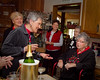 December 22nd ~ 9th Day of Christmas<br /> A Holiday Party full of joyous people singing carols.  An Exeter group of women get together for their annual Holiday Party and this year they broke out in song.  The one sitting is my Mom, oh how she loves to sing.