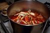 December 29th ~ Cioppino Party at Friends<br /> All the seafood is in. It simmers and it's almost ready to go.