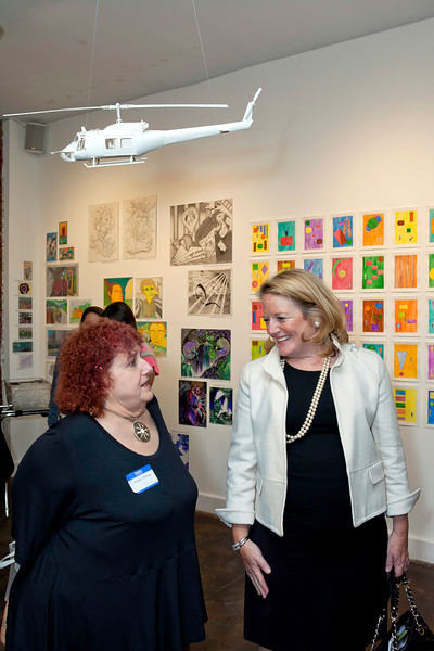 CPA Deputy Director Deanne Scaringe with Greater Hartford Arts Council Executive Director Cathy Malloy.