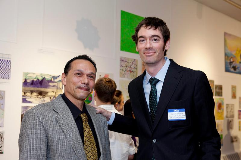 Artist Pete Delgado and Prison Arts Program Manager Jeffrey Greene.