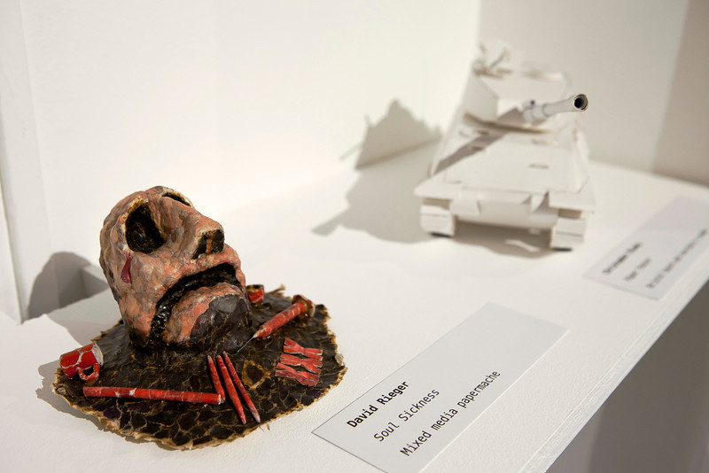 Inmate Artist Mark Despres' sculpture at the Annual Show 2013.
