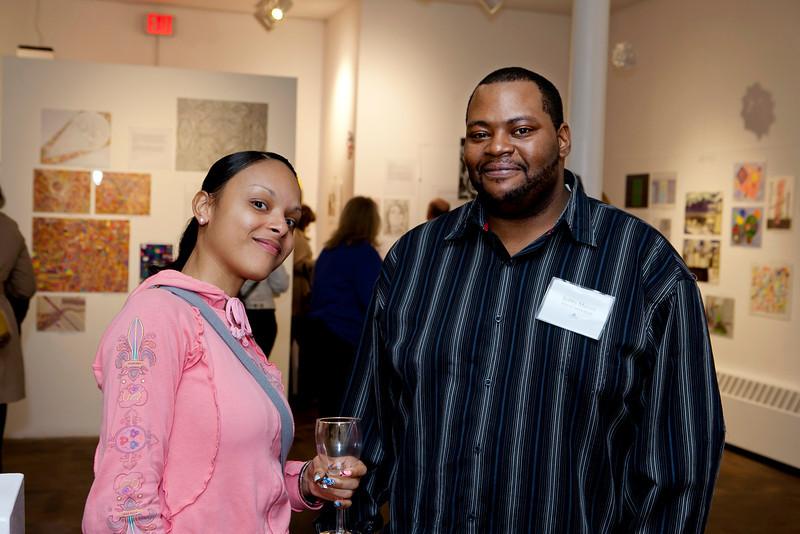 Charter Oak Cultural Center staff enjoying the opening reception.