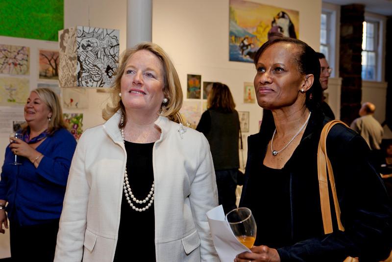 CPA's Executive Director Maureen Price-Boreland with Greater Hartford Arts Council Executive Director Cathy Malloy.