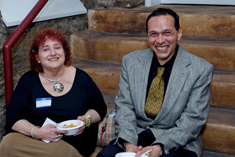 CPA's Deputy Director Deanne Scaringe with Artist Pete Delgado.