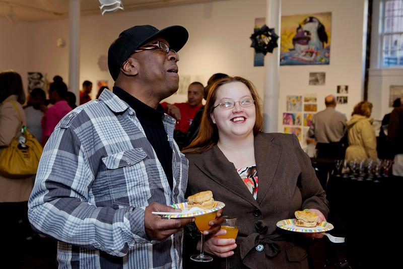 "Former Program Artist Nina ""Massa"" Robinson and her husband at the Annual Show 2013 reception."