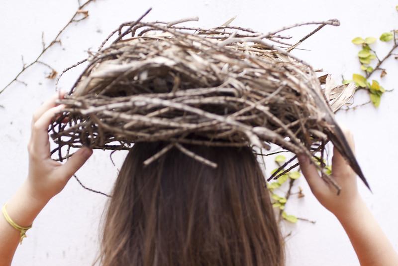 tengo un nido en mi cabeza II, 2010<br /> archival pigment print <br /> 28 x 40 inches (70 x 100 cm)