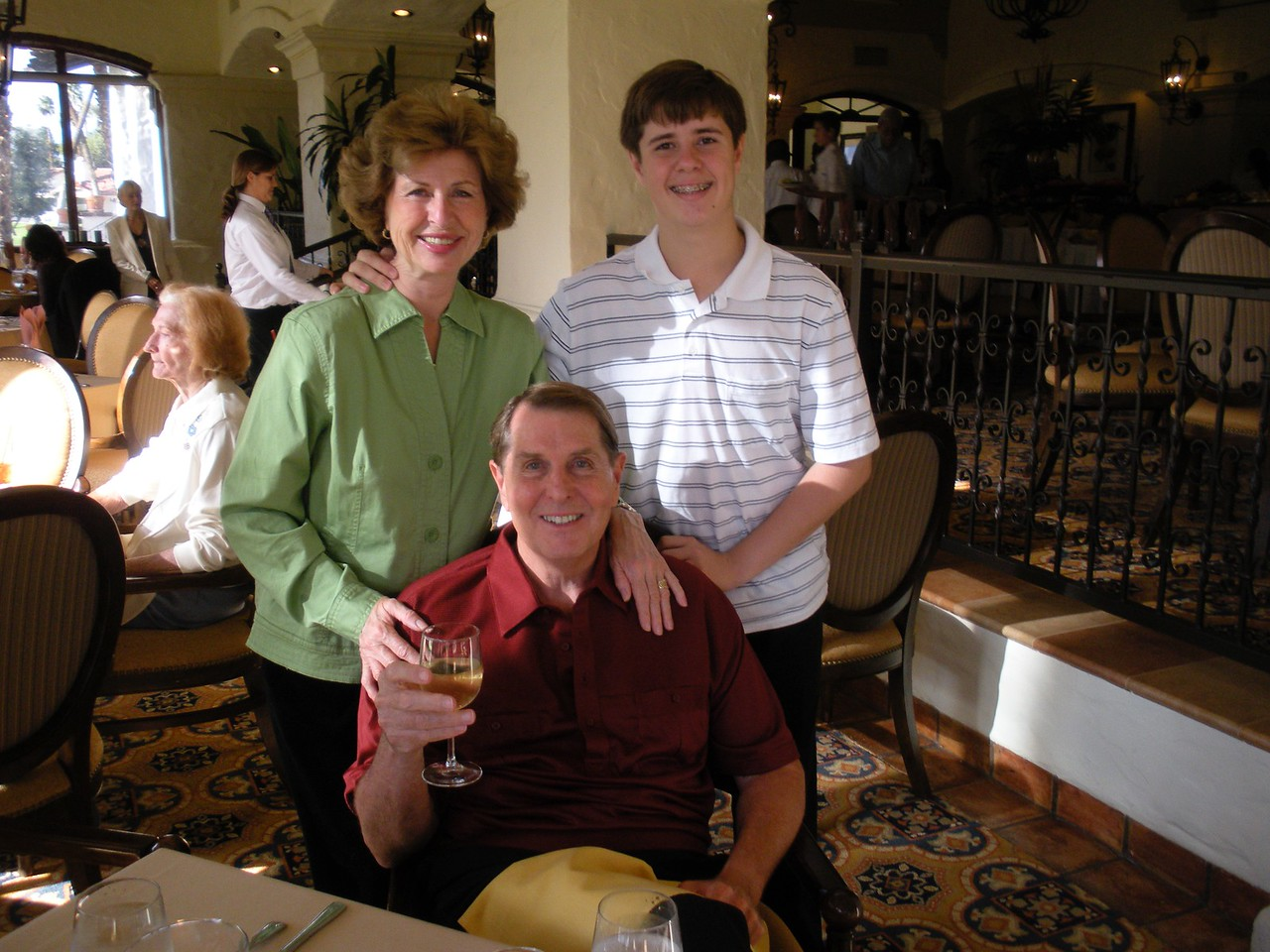 Monterey Country Club Thanksgiving Dinner with Paul, Betty and Tom