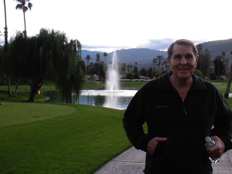 Walk around Monterey Country Club after Thanksgiving Dinner with Paul, Betty and Tom