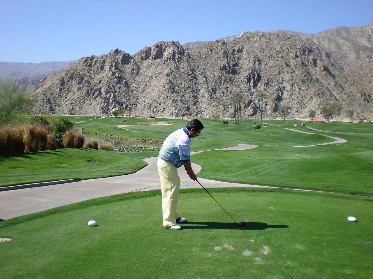 Notice the rugged terrain surrounding La Quinta Golf Resort