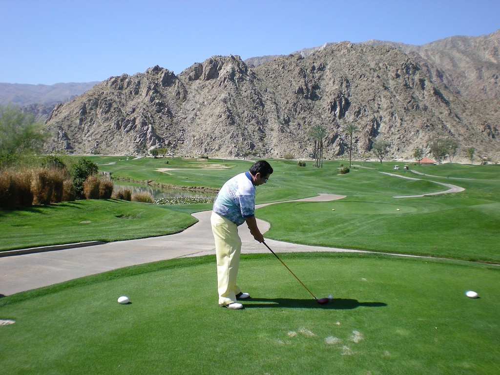 Notice the rugged terrain surrounding La Quinta Golf Resort