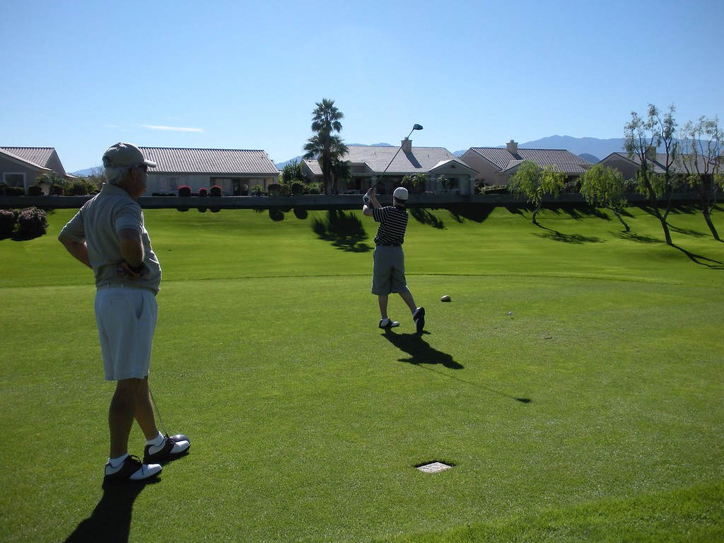 Tom and Paul play golf at Mountain View, Del Webb Club in Palm Desert during Thanksgiving weekend holiday, Novemeber 2008