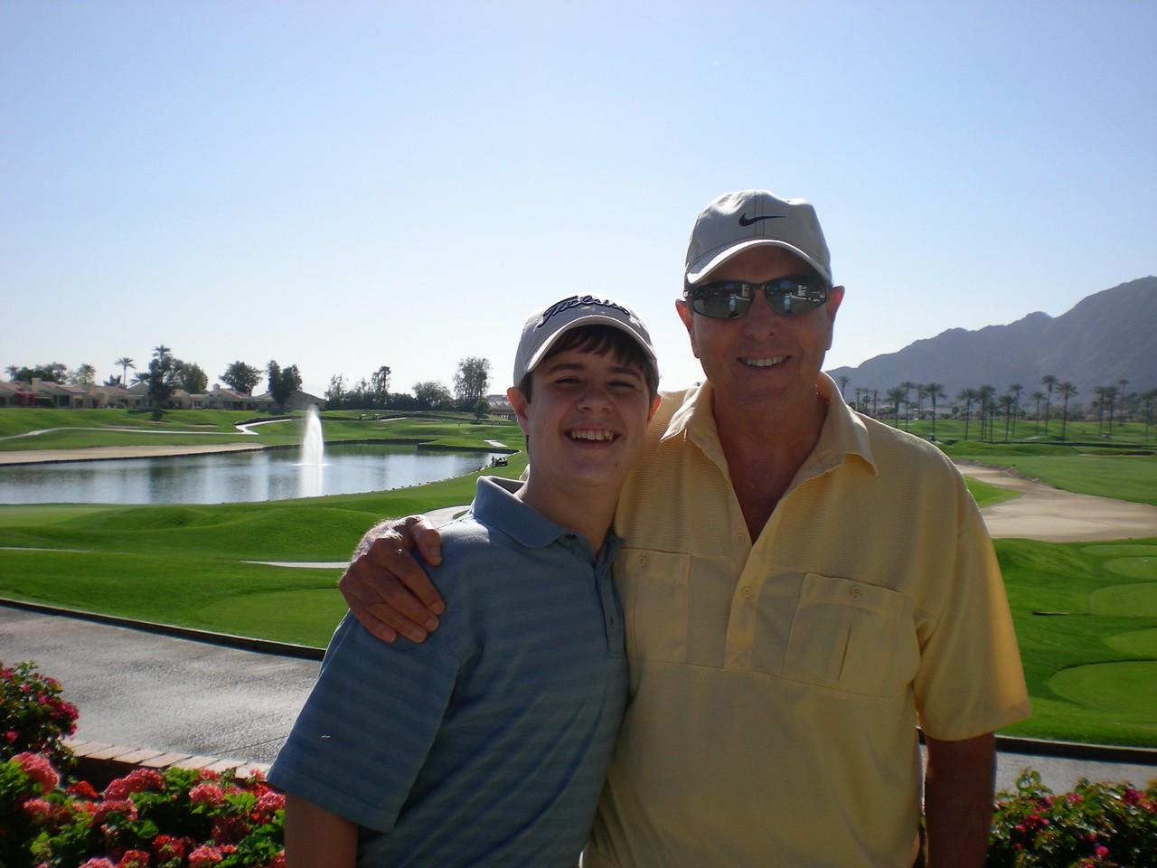 Tom & Paul playing golf at La Quinta