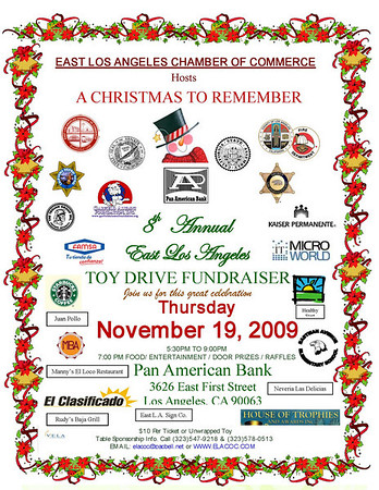 8TH ANNUAL ELACOC TOY DRIVE FUNDRAISER • 11.19.09