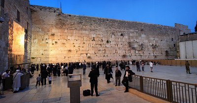 Western Wall at twilight