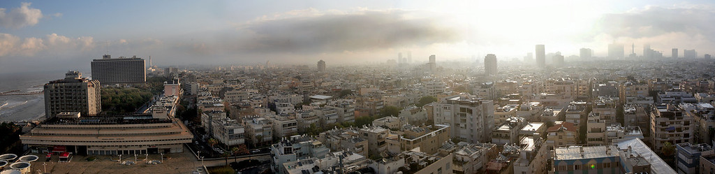 Morning breaks over Tel Aviv, a city some say is like the New York City of the Middle East...