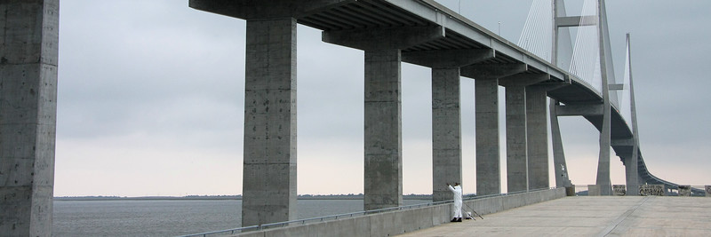Fisherman and Lanier Bridge, Georgia