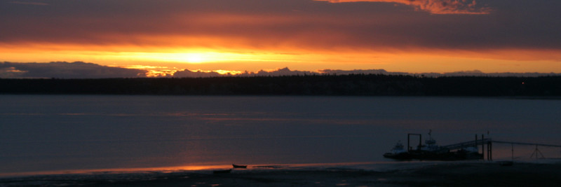 Midnight sunset, Anchorage Alaska