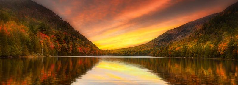 Acadia Fall Sunrise Pano