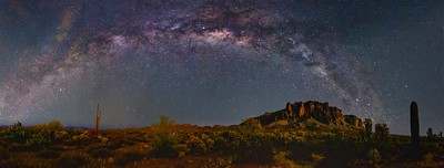 ARIZONA PANORAMIC NIGHT SKY