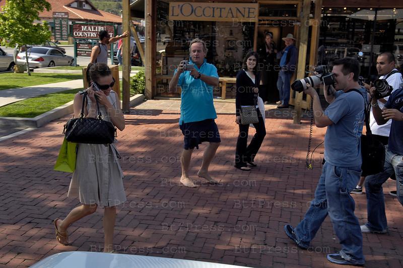 Hilary Swank in Malibu with an special Paparazzi escort.