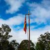 Papua New Guinea flag - School in Tari area