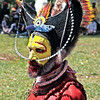 Huli Warrior, Mount Haagen Sing Sing Festival. They believe that they descend from an ancient ancestor known as Huli, The Son of the Forest Spirits