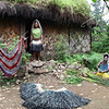 Tari Area - Huli women in front of their house